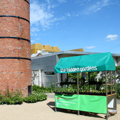 The plant kiosk at The Hidden Gardens