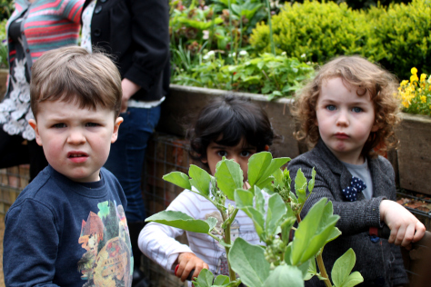 Kids get stuck in at The Hidden Gardens' Parent and Toddler group