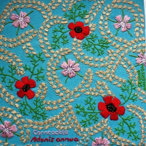 Beautiful embroidered square by Seona Anderson
