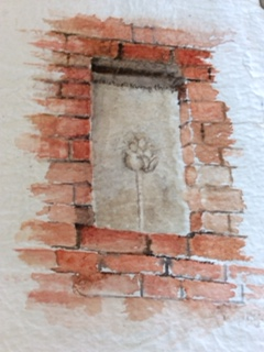 Beautiful watercolour of the chimney by a member of the Round About Art Group