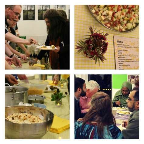 Snapshots of the Interfaith Glasgow shared meal