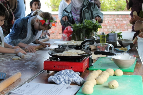 One of our flatbread making workshops during Mela on Your Doorstep - looks good!